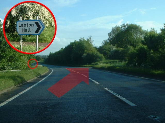 Sign on A43 road